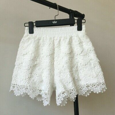 Women Sexy Frilly Ruffle Lace Safety Knicker Hot Pants Elastic Waisted Shorts