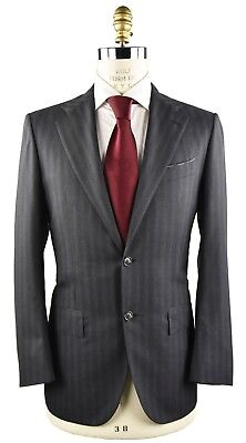New Kiton Napoli Suit Wool And Cashmere Sz 40 Us 50 Eu 9R 19Os157