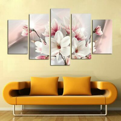 Magnolia Unframed Modern Art Oil Painting Print Canvas Picture Home Wall Decor