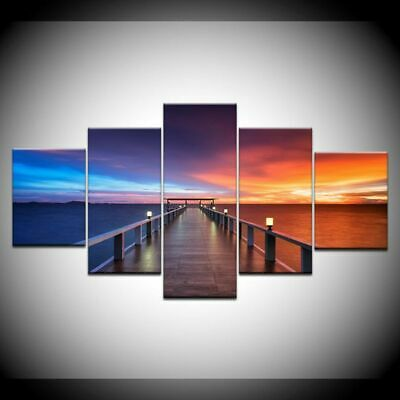 Sea Sunset Unframed Modern Art Oil Painting Print Canvas Picture Home Wall Decor