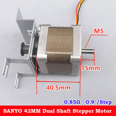 SANYO NEMA17 Stepper Motor  0.9 Degree 2-Phase Dual 22T Shaft Synchronous Pulley
