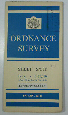 1965 Old Vintage OS Ordnance Survey 1:25000 First Series Map SX 18 Camelford