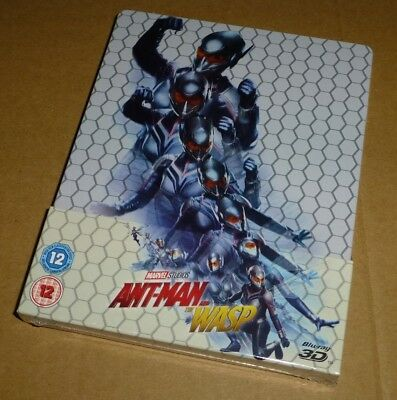 Ant Man & The Wasp : 3D + 2D Blu-ray Steelbook, Uk Exclusive, Marvel, (In Hand)