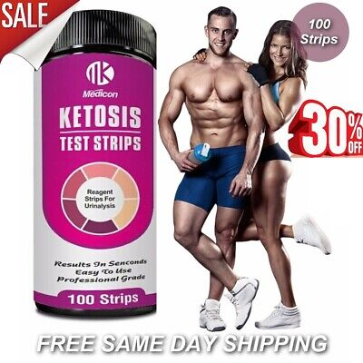 100 Ketone Test Strips - Ketostix Ketosis Keto Atkins Diet Paleo 🔥 High Quality
