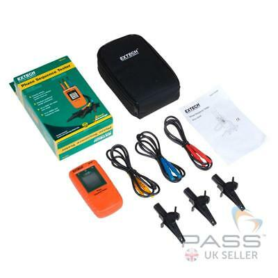 NEW Extech 480400 Phase Sequence Tester + Croc Clips, Cable and Carry Case / UK