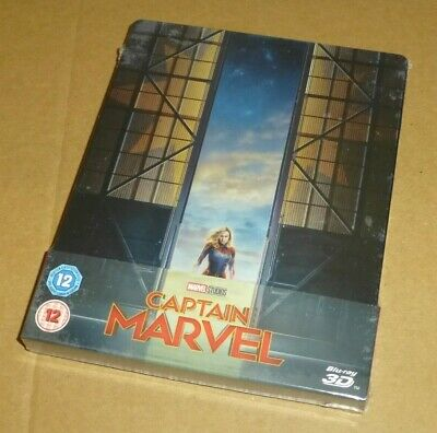 Captain Marvel : 3D + 2D Blu-ray Limited Edition Steelbook, Uk Exclusive, Marvel