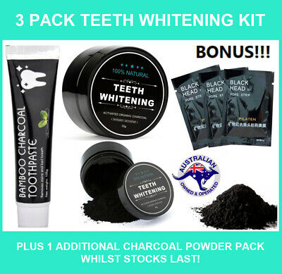 Activated Charcoal Teeth Whitening Powder Organic White Carbon Polish Toothpaste