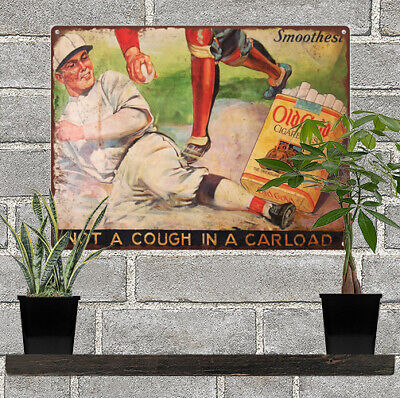 1920s Old Gold Red Grange Football Advertising Metal Sign 9 x 12  60047