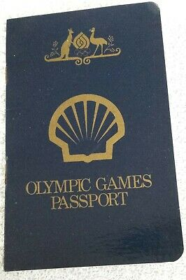 Vintage SHELL Olympic games passport