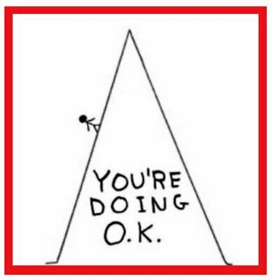 $30 David Shrigley Art Poster Red: You're Doing OK 18x24 Special Its the Ticket
