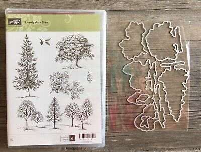 NIP Stampin UP Winter Woods w//Matching In The Woods Framelits Dies