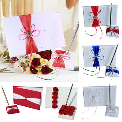 Wedding Guest Signature Book With Pen Set Guestbook Party Supplies Decor