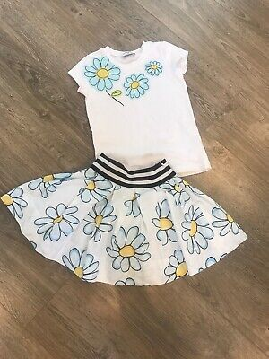 Monnalisa Girls Daisy Set Skirt Tshirt Age 2