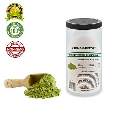 1lb Moringa leaf Powder Great For Energy, Nutrition Pure Natural Organic JAR