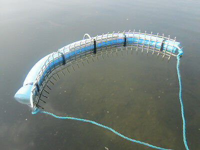 Floating weed rake ® for surface floating weed. Fishing rake galvanised  3 sizes