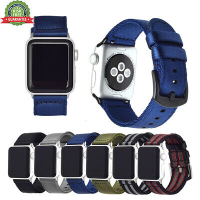 Replacement Apple Watch iWatch Series 4/3/2/1 Band 42mm Nylon Wristband Strap