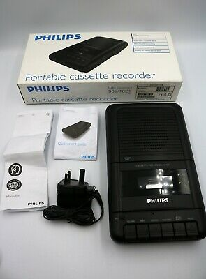 Philips AQ1001 Portable cassette recorder boxed with instructions MINT CONDITION