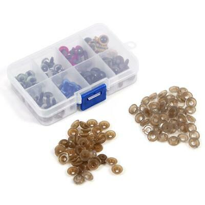80 pcs 8 Color-Mix 10mm Safety Eyes Box for Teddy Bear Stuffed Toy Animal Puppet