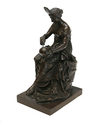 Figural Patinated Bronze Sculpture, Urania - Muse of Astronomy