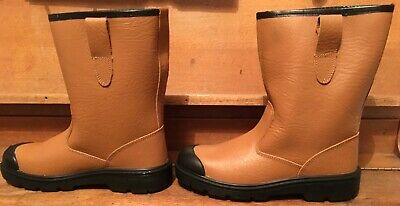 d5efc809761 ARCO RIGGER BOOTS Safety Steel Toe Cap Fur Lined Leather Mens Size ...