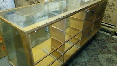 Vintage Retail Glass Display Cabinet / Shop Counter