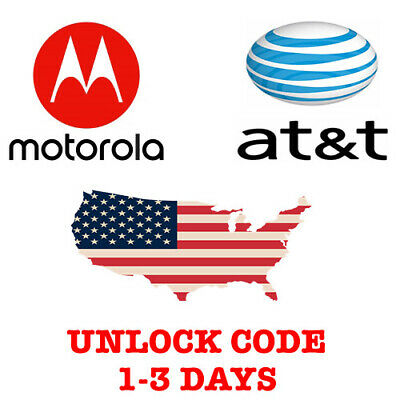 MOTOROLA AT&T USA UNLOCK CODE MOTO Z Z2 Force Z3 E4 PLUS G Play G4 G5 Plus G6