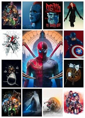 Game Of Thrones Marvel DC Superhero Mixed Prints 170gsm A4 Fan Art Decor Posters
