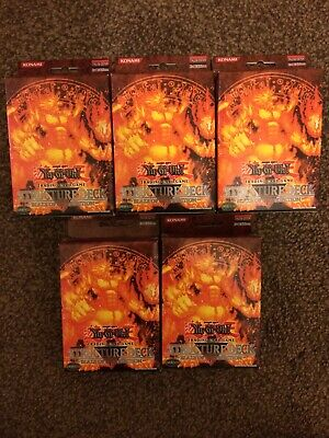 Yu-GI-Oh! - 5 x Blaze of Destruction - Structure Deck - 1st Ed - Factory Sealed