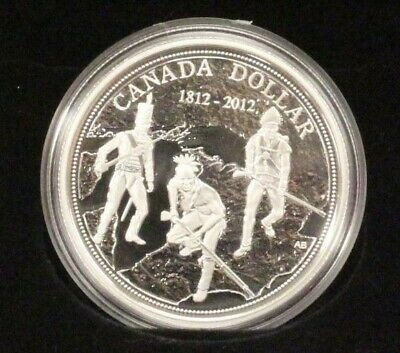 2012 Canada Proof 92.5% Silver $1 Dollar Coin - Anniversary of War of 1812