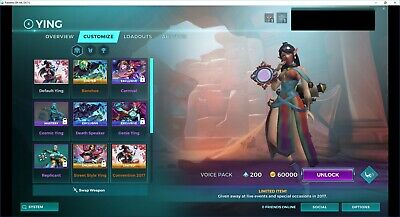 PALADINS ACCOUNT WITH Exclusive Skins, 2017, HRX 2018, and more
