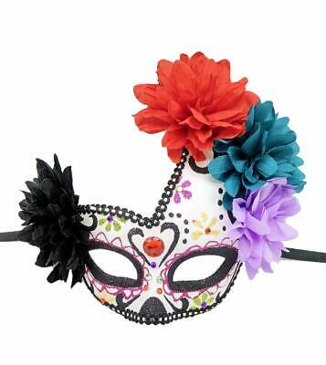 Women's Masquerade Mask Day of The Dead Mask Venetian Halloween Carnival Even...