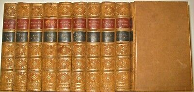 LEATHER Set;ALLISON's HISTORY OF EUROPE!(ANTIQUARIAN LIBRARY)20VOL Complete 1848