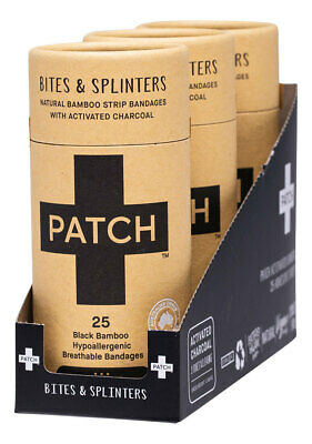Natural Adhesive Bandages + Activated Charcoal (3x25) - PATCH