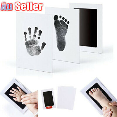 Newborn Wipe AU Safe Hand & Foot Print Kit Baby Inkless Christmas Gift - Child