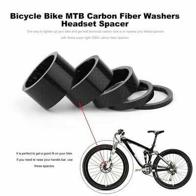 Bicycle Bike MTB Carbon Fiber Washers Headset Spacer 3mm 5mm 10mm 15mm 20mm WR