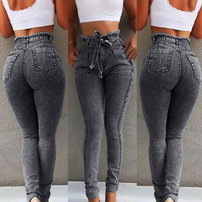 J-Women High Waisted Stretchy Skinny Jeans Denim Jeggings Trousers Pants S-5XL