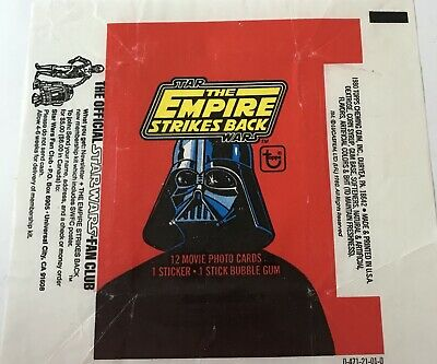 "Topps Star Wars Empire Strikes Back S1 Wax Wrapper From 1980 ""Just Wrapper"""