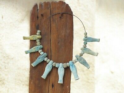 Beautiful Necklace Ancient Egypt. Faience Ushabti. 600 - 300 B.c See.....