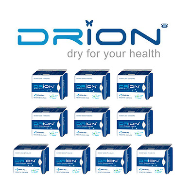 DRION Negative Ion Far Infrared Menstrual Sanitary DAY PADS - 10 PACK (100 PADS)