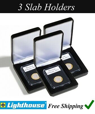 6x Slab Encap Coin Storage Sheet for PCGS NGC Certified Holder Wooden Box US