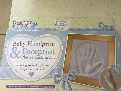 Beautiful Beginnigs Baby First Hand & Foot Print Plaster Casting Kit With Frame