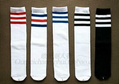 1 Pairs Tube Stripes Cotton Socks For Men And woman