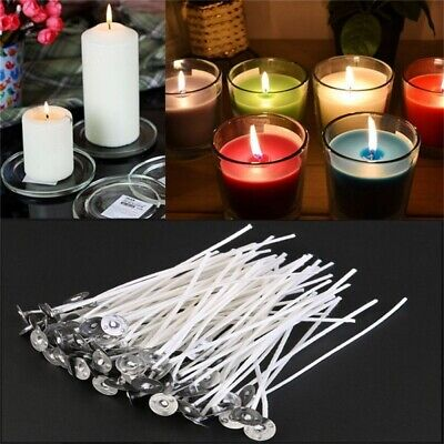 100x Durable Delicate Candle Wicks Low Smoke Cotton Core for Candle Making 20cm