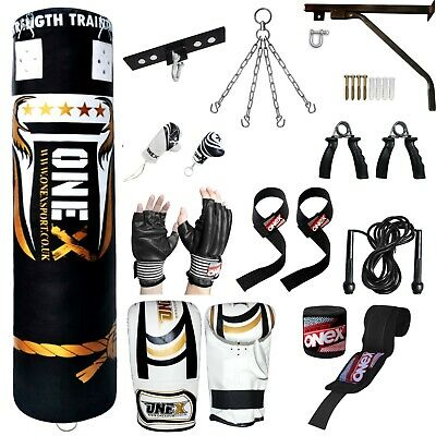 NEW Onex 5 FT Filled Heavy Punch Bag Buyer Build Set,Chains,Bracket,Gloves,MMA