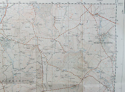 1961 old vintage OS Ordnance Survey 1:25000 First Series Map SP 02 Winchcombe