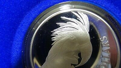 Silver $10 Proof Coin - Royal Australian Mint - Palm Cockatoo 1993 20g Birds