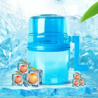 Kitchen Manual Ice Shaver Crusher Hand Crank Shredding Snow Cone Maker Machine