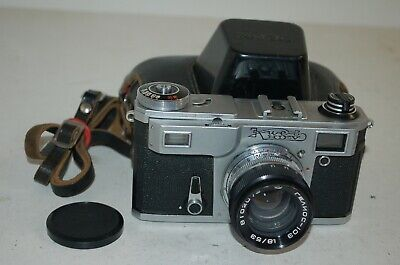 Kiev-4AM Vintage 1981 Soviet Rangefinder Camera, Helios-103. No.8102043. UK Sale