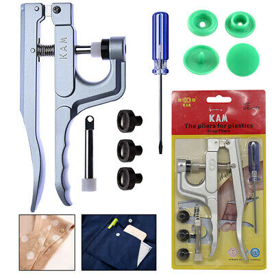 T3 T5 T8 Genuine Plastic Kam Snaps Install Plier Tool Kit for DIY Baby Clothes