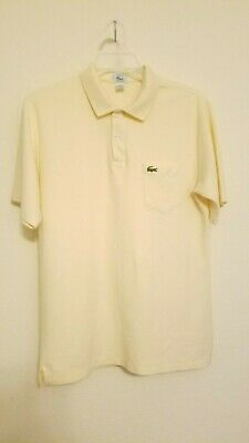 Vintage Lacoste Golf Tennis Polo Shirt Yellow Men's Extra Large - Izod Lacoste